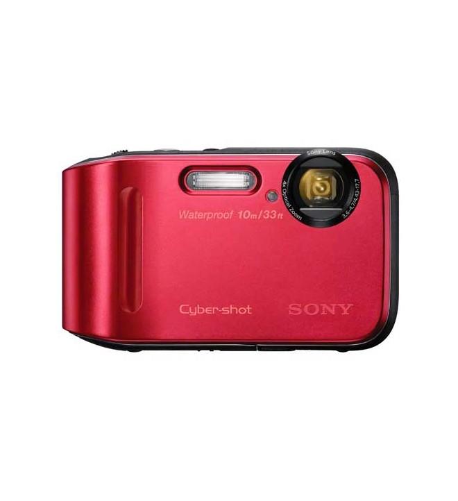 """Sony DSC-TF1 - Cámara a prueba de agua, polvo, congelación y golpes, 16,1 Mpx, zoom óptico 4x, HD, LCD 2,7"""", color Rojo"""