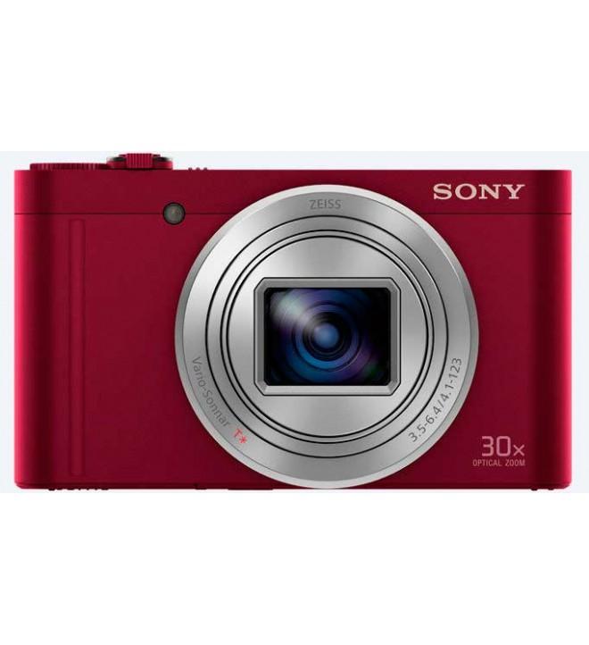 Sony DSC-WX500 - Cámara compacta con zoom óptico de 30X, color Rojo