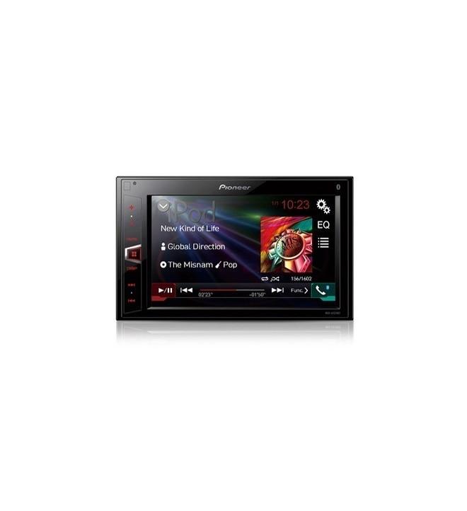 """Pioneer MVH-AV270BT - Pantalla táctic de 6.2"""" con Bluetooth, USB, entrada Aux, salida de vídeo"""