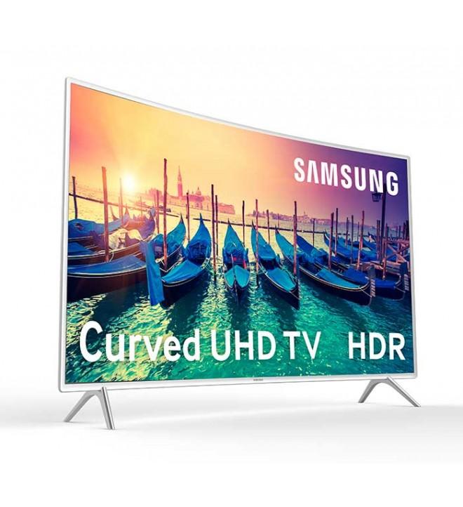 Samsung KU6510 - 55 pulgadas, Curvo, Smart TV, UHD, WiFi, 1600 Hz PQI, HDR Super, Satélite, color Blanco, (UE55KU6510UXXC)