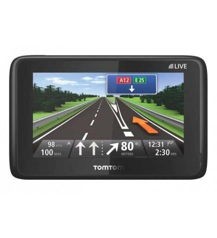 TomTom GPS Go Live 1000 Iberia - Navegador GPS, pantalla táctil, mapas detallados, soporte magnético