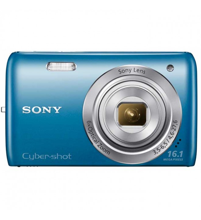 Sony Cyber-shot W670 - Cámara compacta 16.1 Mpx, Zoom 6x, video 720p, pantalla LCD, fotos extrapanorámicas 360, color Azul