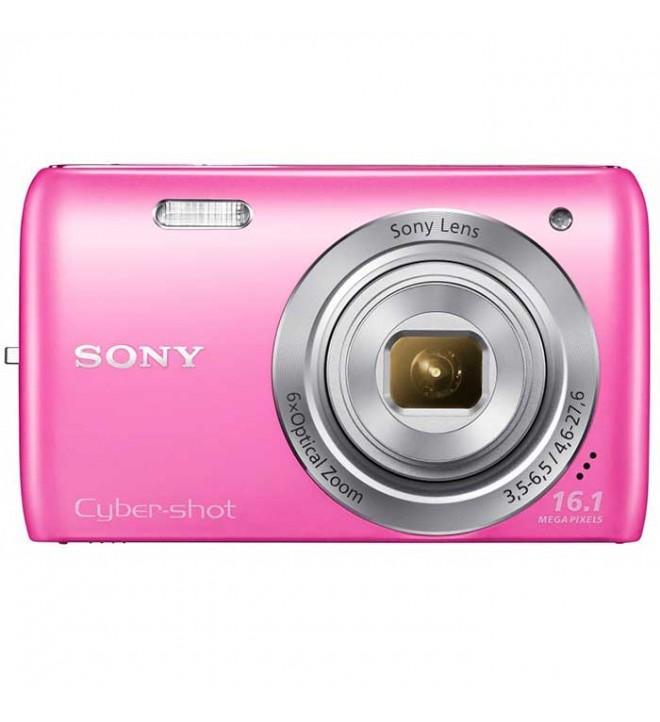 Sony Cybershot W670 - Cámara compacta 16.1 Mpx, Zoom 6x, video 720p, pantalla LCD, fotos extrapanorámicas 360, color Rosa