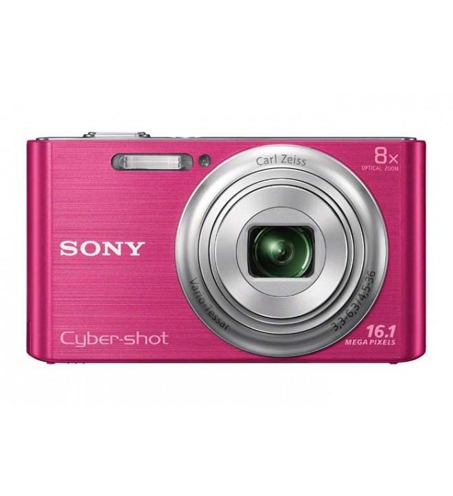 Sony Cybershot DSC-W730 - Cámara compacta, resolución 16.1 Mpx, Zoom 8x, pantalla TFT de 2 pulgadas, color Rosa