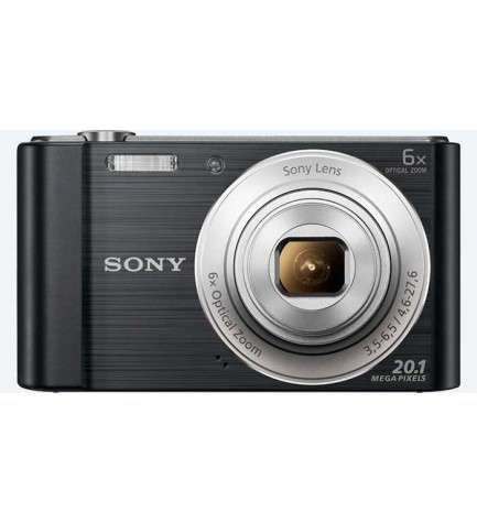 Sony DSC-W810 - Cámara compacta, resolución 20.1 Mpx, Zoom óptico 6x, video 720p HD, estabilizador de imagen, color Negro