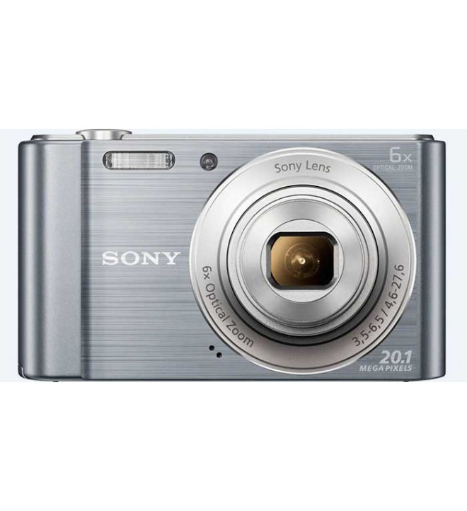 Sony DSC-W810 - Cámara compacta, resolución 20.1 Mpx, Zoom óptico 6x, video 720p HD, estabilizador de imagen, color Plata