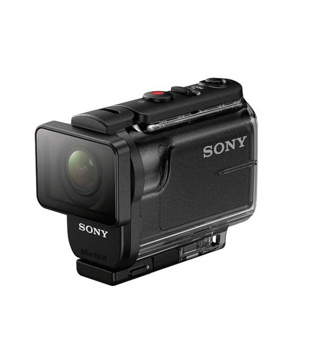 Sony HDR-AS50 - Cámara de acción, resolución 11.1 Mpx, estabilizador de imagen, video Full HD 1080p, transmisión en directo