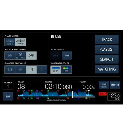 Pioneer XDJ-1000MK2 - Multireproductor, pantalla táctil de 7 pulgadas, navegación por pistas mejorada, FLAC, ALAC