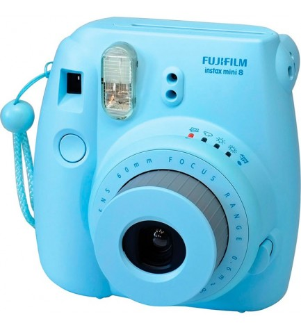 Fujifilm Instax Mini 8 - Cámara instantánea, flash incorporado, color Azul