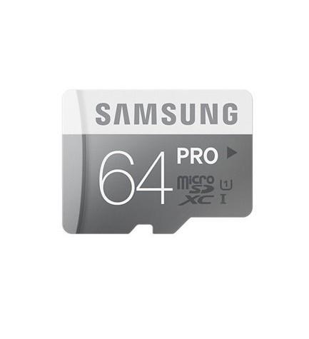 SAMSUNG MICRO SD HC PRO - 64GB, clase 10, incluye adaptador