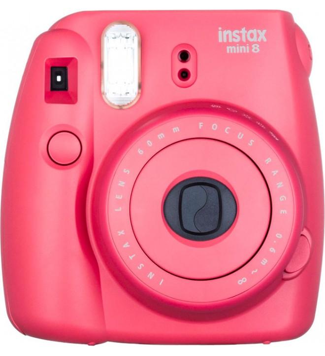 Fujifilm Instax Mini 8 - Cámara instantánea, flash incorporado, color Frambuesa