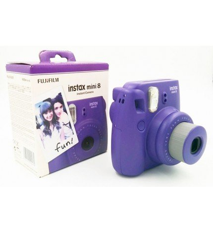 Fujifilm Instax Mini 8 - Cámara instantánea, flash incorporado, color Uva