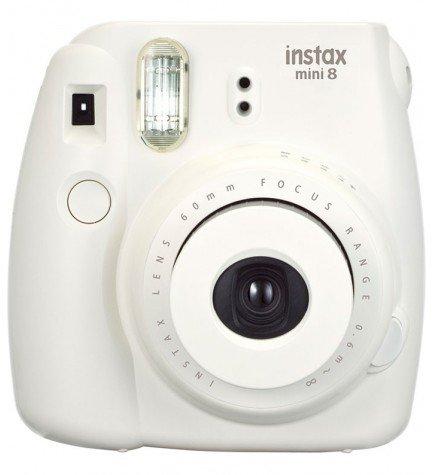 Fujifilm Instax Mini 8 - Cámara instantánea, flash incorporado, color Blanco