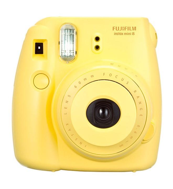Fujifilm Instax Mini 8 - Cámara instantánea, flash incorporado, color Amarillo