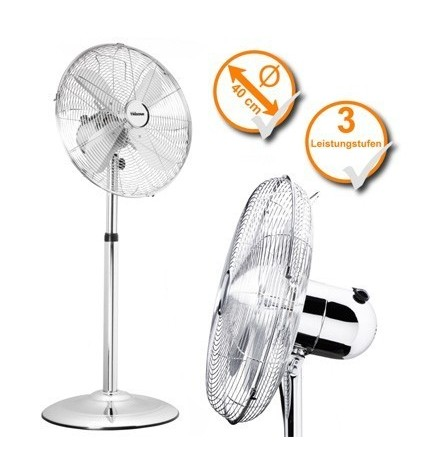 TRISTAR VE5951 - Ventilador de pie de 40 cm, de cromo, altura regulable
