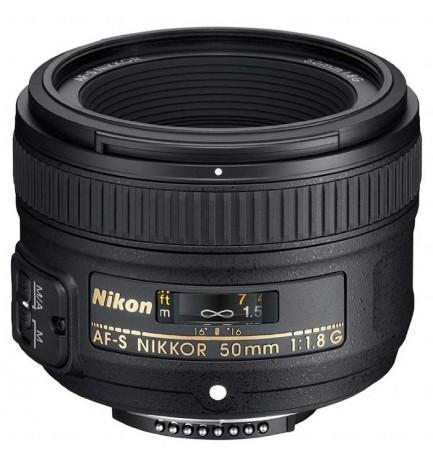 Nikkor AF-S 50mm f/1.8G - Objetivo, ideal para situaciones de escasa iluminación, calidad de imagen superior