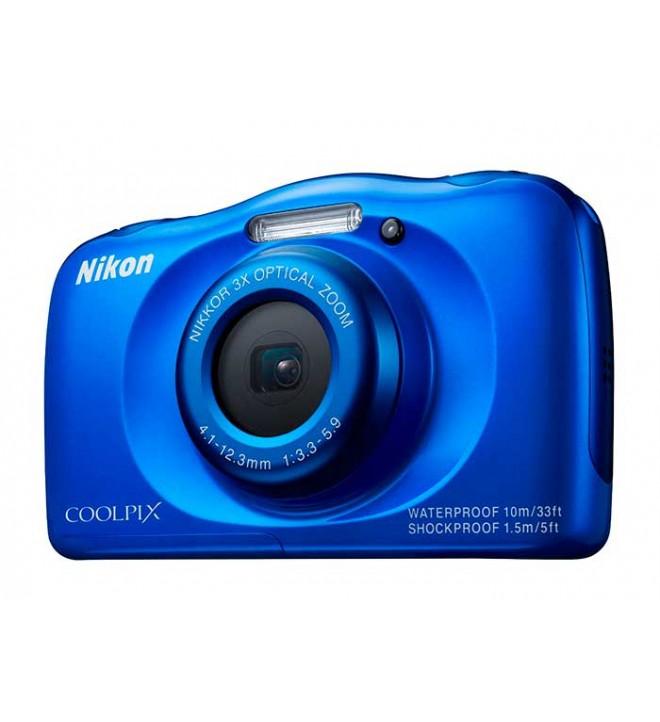 Nikon S33 - Cámara acuática, 13.2 Mpx, Azul, Tenerife, Canarias