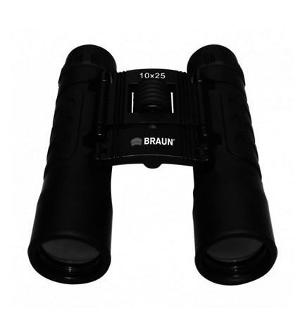 BRAUN 10X25 - Prismáticos, color Negro