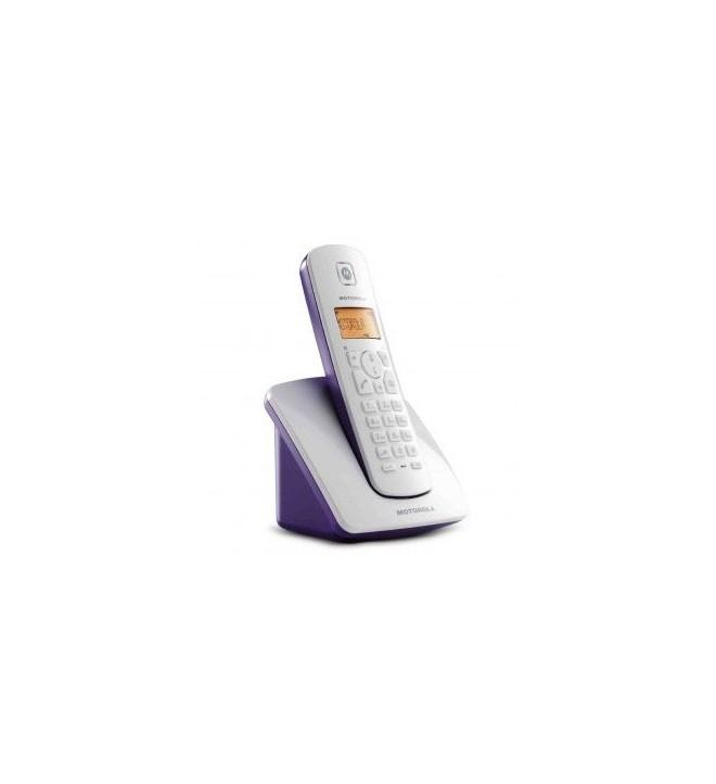MOTOROLA C401 - Teléfono inalámbrico, color Púrpura