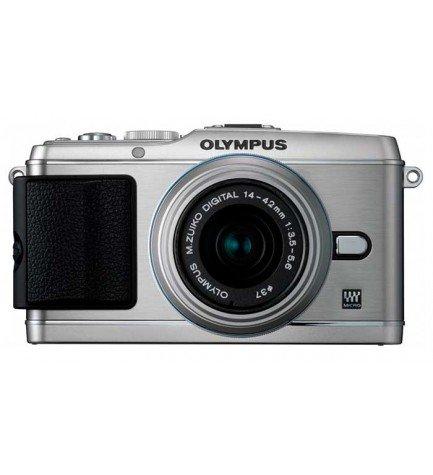Olympus E-P3 + 14-42mm - Cámara sin espejo, 12.3 Mpx, vídeo Full HD, flash integrado, color Plata