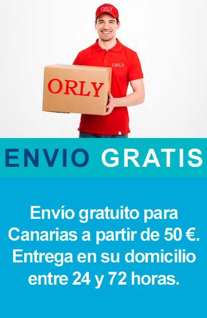 Envíos gratis para Canarias con ORLY, tus tiendas de confianza