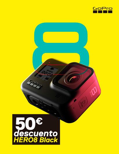 Hasta el 5 de Abril, 50€ de descuento en las GoPro Hero 8 Black
