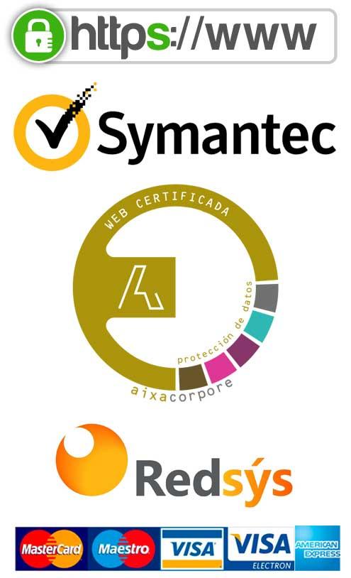 ORLY certificada, protección de datos, seguridad SSL, pago 100% seguro, symantec